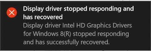 """How to fix the """"display driver stopped responding and has."""